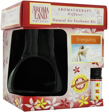 DROPPED: AromaLand - Aromatherapy Diffuser Natural Air Freshener Kit Kiva Black Energizing Blend - CLEARANCE PRICED