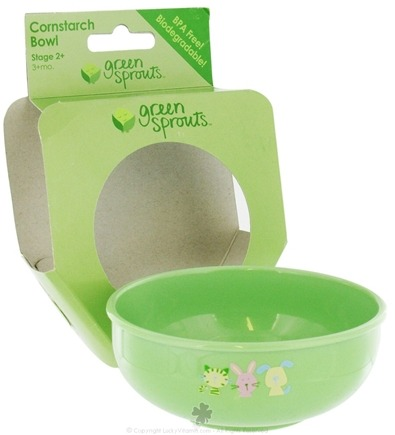 DROPPED: Green Sprouts - Cornstarch Bowl BPA Free Stage 2+ 3+Months - CLEARANCE PRICED
