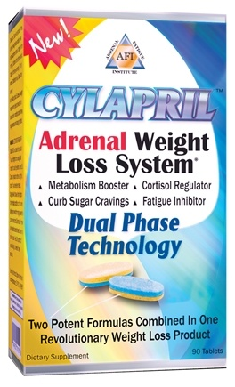 DROPPED: Adrenal Fatigue Institute - Cylapril Weight Loss System - 90 Tablets Contains Schizandra Berry CLEARANCE PRICED