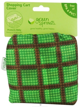 DROPPED: Green Sprouts - Shopping Cart Cover Green & Brown - CLEARANCE PRICED