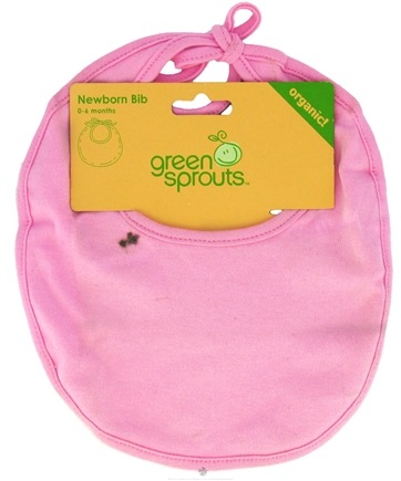 DROPPED: Green Sprouts - Newborn Bib Organic Pink 0-6 Months