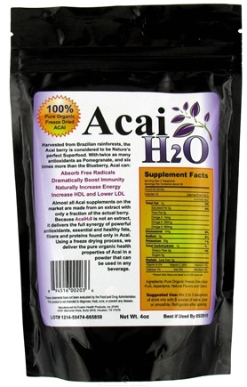 DROPPED: Fusion Health Products - Acai H20 - 4 oz. CLEARANCE PRICED