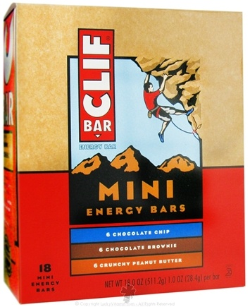 DROPPED: Clif Bar - Mini Energy Bars Variety Pack (Choc. Chip, Choc. Brownie, Crunchy Peanut Butter) - 18 Bars CLEARANCE PRICED