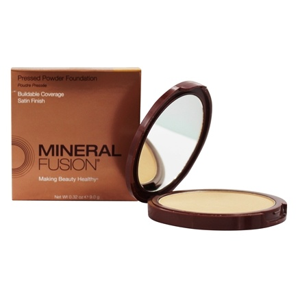 Mineral Fusion - Base Pressed Powder Foundation Warm 2 - 0.32 oz.