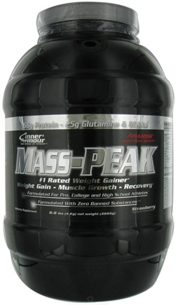 DROPPED: Inner Armour - Mass Peak Weight Gainer Strawberry - 8.8 lbs. CLEARANCE PRICED