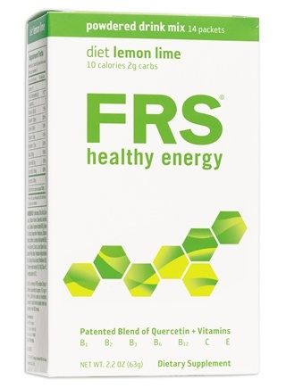 DROPPED: FRS Healthy Energy - Powdered Drink Mix Low Cal Lemon Lime - 14 Packet(s)