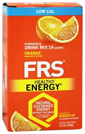 FRS Healthy Energy - Powdered Drink Mix Diet Orange - 14 Packet(s)