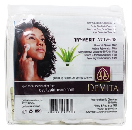 DeVita - Natural Skin Care Try Me Kit For Anti Aging Skin