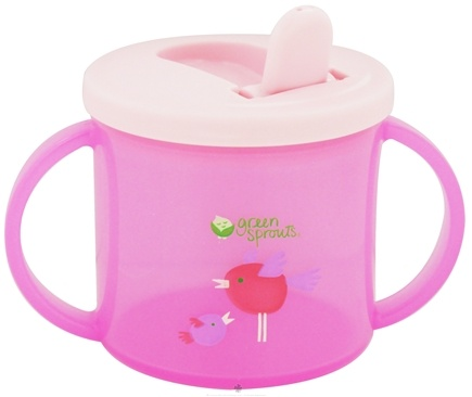 DROPPED: Green Sprouts - Sippy Cup Stage 2/3 3-12 Months Pink - 6.5 oz.