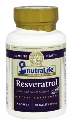 DROPPED: Nutralife - Resveratrol 100 mg. - 30 Tablets