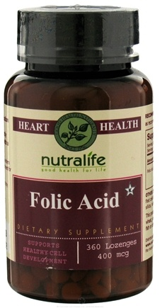 DROPPED: Nutralife - Folic Acid 400 mcg. - 360 Lozenges