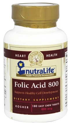 Nutralife - Folic Acid 800 mcg. - 180 Tablets