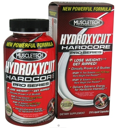 DROPPED: Muscletech Products - HydroxyCut Hardcore Pro Series - 210 Liquid Capsules CLEARANCE PRICED