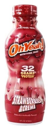ISS Research - OhYeah RTD Nutritional Shake Strawberries & Creme - 14 oz.