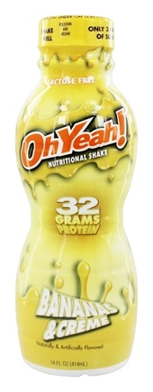 ISS Research - OhYeah RTD Nutritional Shake Bananas & Creme - 14 oz.