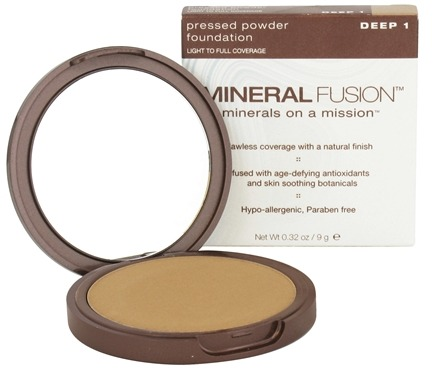 DROPPED: Mineral Fusion - Pressed Powder Foundation Deep 1 - 0.32 oz. CLEARANCED PRICED