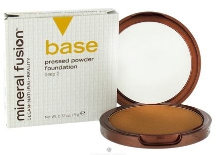 DROPPED: Mineral Fusion - Base Pressed Powder Foundation Deep 2 - 0.32 oz. CLEARANCE PRICED