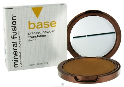 DROPPED: Mineral Fusion - Base Pressed Powder Foundation Deep 4 - 0.32 oz. CLEARANCE PRICED