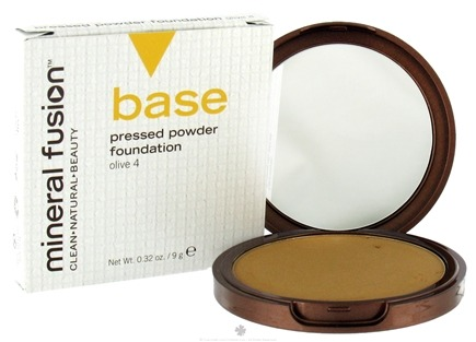DROPPED: Mineral Fusion - Base Pressed Powder Foundation Olive 4 - 0.32 oz. CLEARANCE PRICED