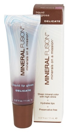 DROPPED: Mineral Fusion - Liquid Lip Gloss Delicate - 0.37 oz. CLEARANCE PRICED