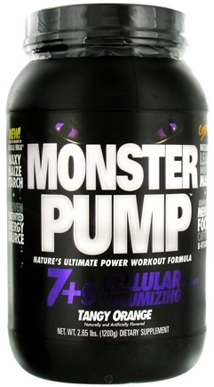 DROPPED: Cytosport - Monster Pump Ultimate Power Workout Formula Tangy Orange - 2.65 lbs.