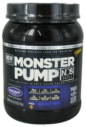 DROPPED: Cytosport - Monster Pump Pre-Training Nitric Oxide Energy Catalyst Sour Grape - 16.1 oz. CLEARANCE PRICED