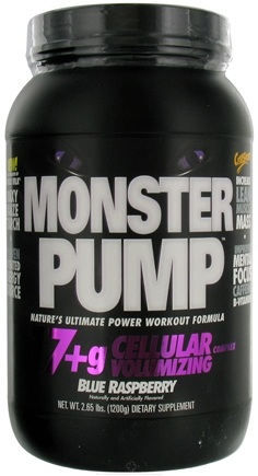 DROPPED: Cytosport - Monster Pump Ultimate Power Workout Formula Blue Raspberry - 2.65 lbs.