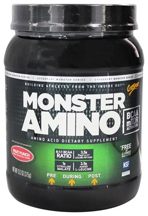 DROPPED: Cytosport - Monster Amino BCAA Ultimate Amino Acid Formula Fruit Punch - 13.2 oz.