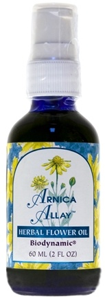 DROPPED: Flower Essence Services - Herbal Flower Oil Arnica Allay - 2 oz. CLEARANCE PRICED