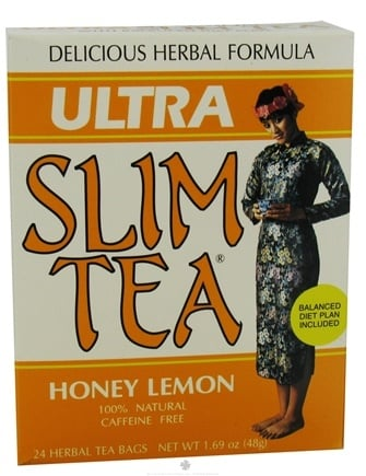 DROPPED: Hobe Labs - Ultra Slim Tea 100% Natural Caffeine Free Honey Lemon - 24 Tea Bags CLEARANCE PRICED