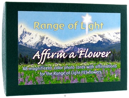 DROPPED: Flower Essence Services - Range of Light Affirm A Flower Affirmation Card Set English - 48 Cards - CLEARANCE PRICED