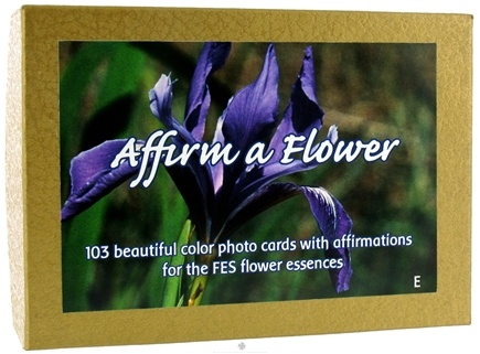 DROPPED: Flower Essence Services - Affirm A Flower Affirmation Card Set English - 103 Cards - CLEARANCE PRICED