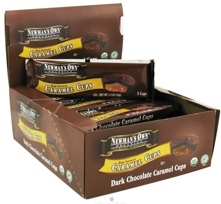 DROPPED: Newman's Own Organics - Caramel Cups Dark Chocolate - 3 Pack
