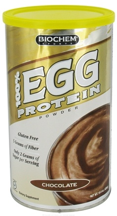 DROPPED: Biochem by Country Life - 100% Egg Protein Powder Chocolate - 15.4 oz. CLEARANCE PRICED