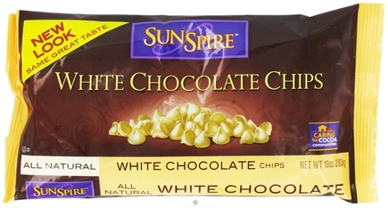 DROPPED: SunSpire - All Natural White Chocolate Chips - 10 oz.