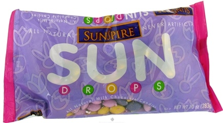 DROPPED: SunSpire - Sun Drops All Natural Milk Chocolate Candies - 10 oz.