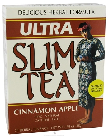 DROPPED: Hobe Labs - Ultra Slim Tea 100% Natural Caffeine Free Cinnamon Apple - 24 Tea Bags CLEARANCE PRICED