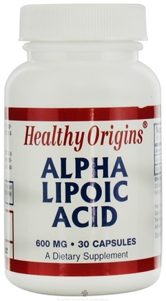 DROPPED: Healthy Origins - Alpha Lipoic Acid 600 mg. - 30 Capsules CLEARANCE PRICED