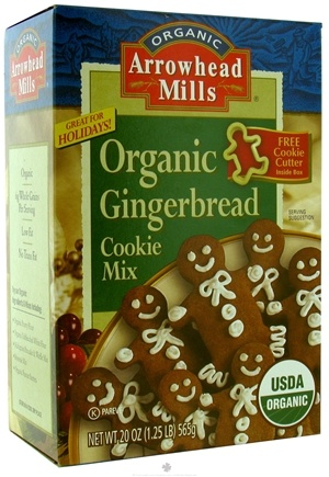 DROPPED: Arrowhead Mills - Organic Cookie Mix With Cookie Cutter Gingerbread - 20 oz. CLEARANCE PRICED