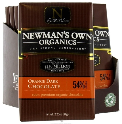 DROPPED: Newman's Own Organics - Chocolate Bar 54% Orange Dark - 2.25 oz. CLEARANCE PRICED