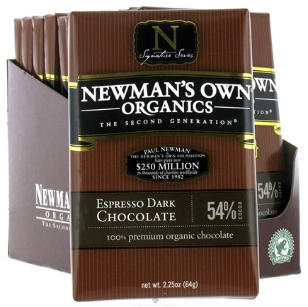 DROPPED: Newman's Own Organics - Chocolate Bar 54% Espresso Dark - 2.25 oz. CLEARANCE PRICED