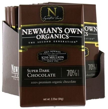 DROPPED: Newman's Own Organics - Chocolate Bar 70% Super Dark - 2.25 oz. CLEARANCE PRICED
