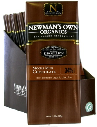 DROPPED: Newman's Own Organics - Chocolate Bar 34% Mocha Milk - 3.25 oz. CLEARANCED PRICED