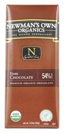 Newman's Own Organics - Chocolate Bar 54% Dark - 3.25 oz.