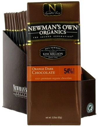 DROPPED: Newman's Own Organics - Chocolate Bar 54% Orange Dark - 3.25 oz.
