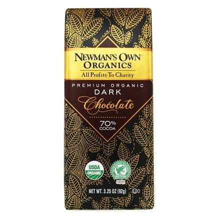 Newman's Own Organics - Chocolate Bar 70% Super Dark - 3.25 oz.