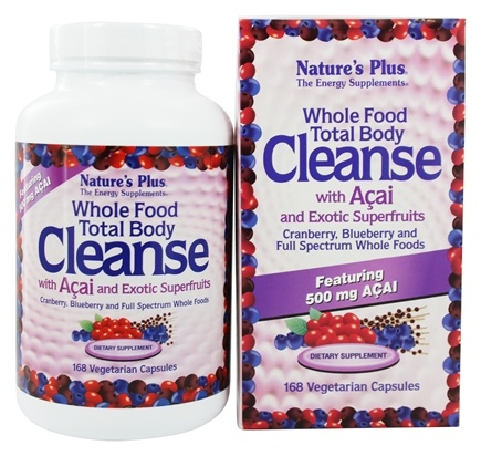 Nature's Plus - Whole Food Total Body Cleanse With Acai & Exotic Superfruits - 168 Vegetarian Capsules