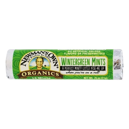 Newman's Own Organics - Wintergreen Mints Roll - 12 Piece(s)