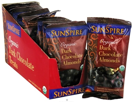 DROPPED: SunSpire - Organic Dark Chocolate Almonds - 1.19 oz.