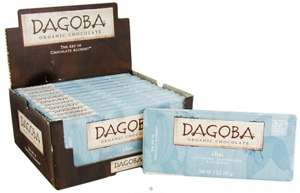 DROPPED: Dagoba Organic Chocolate - Bar Milk Chocolate Chai 37% Cacao - 2 oz.